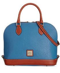 Orange  Dooney & Bourke Pebble Zip Zip Satchel