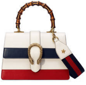 White Dionysus leather top handle bag