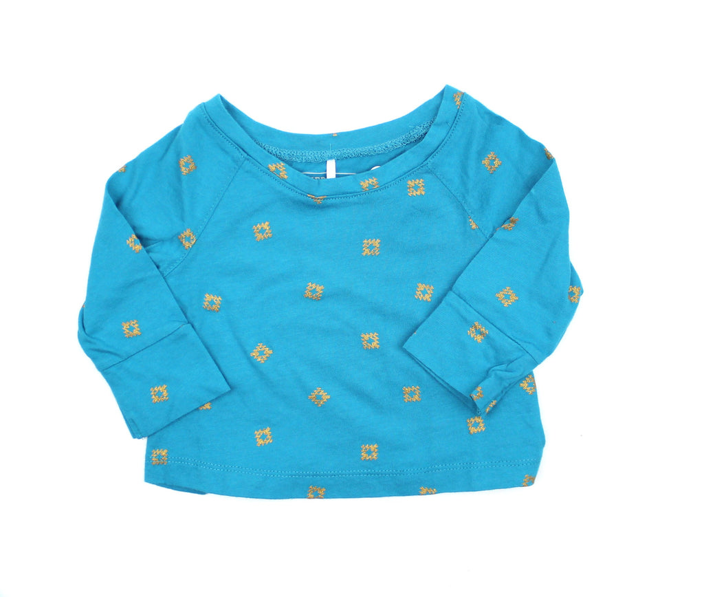 Brand New Cherokee Girls Long Sleeve Teal Shirt - May Bug Treasures