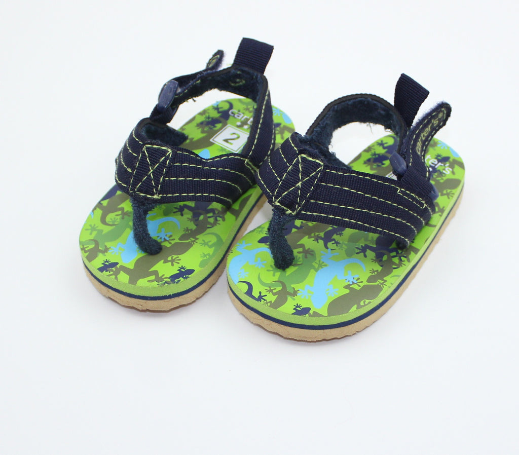 Infant Navy Sandals, Size 2 - May Bug Treasures