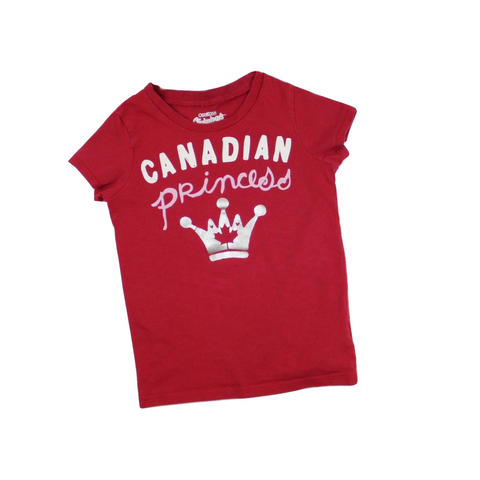 Osh Kosh Girls Red Canadian Princess T-Shirt, Size 6 - May Bug Treasures
