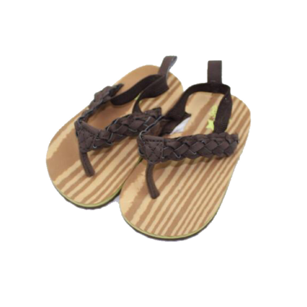 Infant Brown Sandals in Size 3 by Osh Kosh - May Bug Treasures