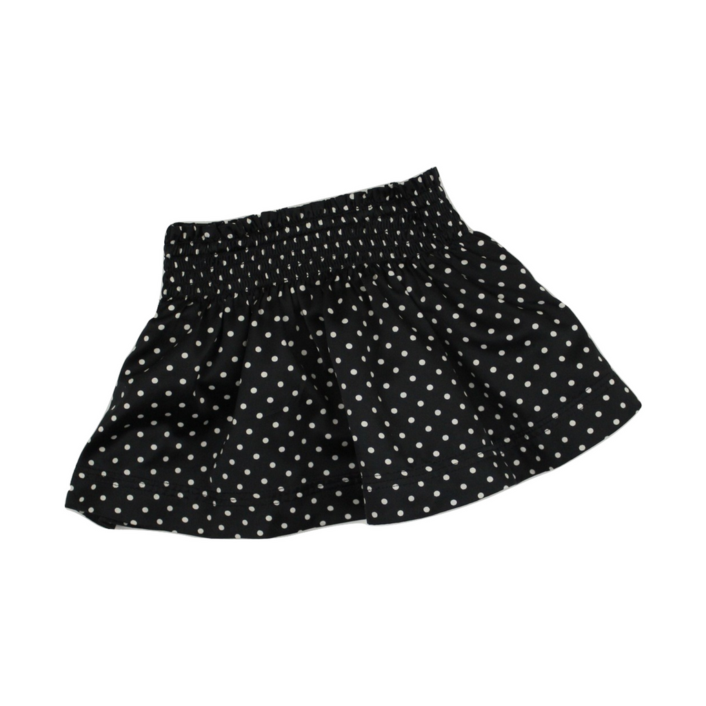 Baby Gap Black Polka Dot Skirt, Size 12-18 Months - May Bug Treasures