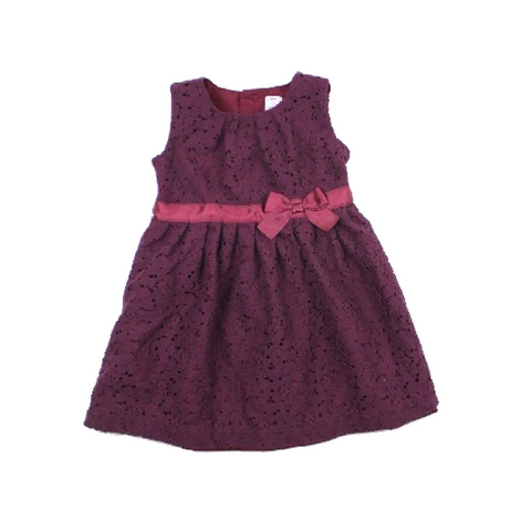 Carter's Toddler Girls Lace Dress in Plum, Fully Lined with. Buttons Top Back, Size 24 Months Available Online at Gently Used Kids Clothes Resale May Bug Treasures