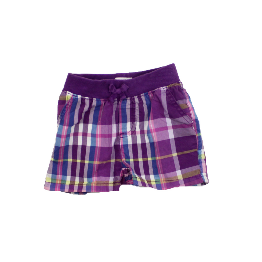 Children's Place Girls Purple Plaid Shorts, Size 5 Slim - May Bug Treasures