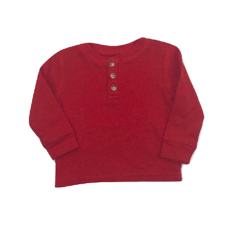 Nevada Red Henley Top in Size 18 Months - May Bug Treasures