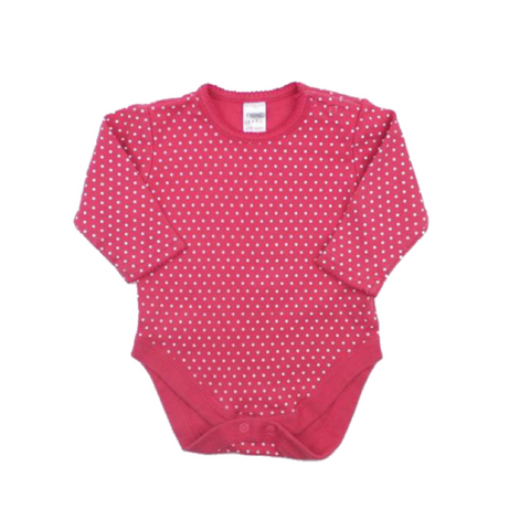 Next Baby Girl Long Sleeve One-Piece Bodysuit, Size 6 Months