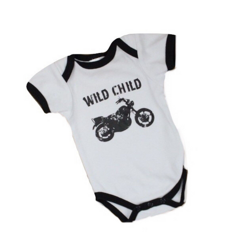 Wild Child Motorcycle Bodysuit, Size 3 Months - May Bug Treasures