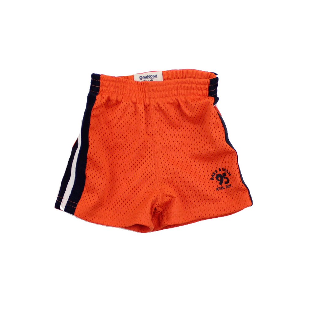 Infant Boy Orange and Navy Elastic Waist Shorts in Size 3 Months by Osh Kosh Available Online At Gently Used Baby Clothes Resale May Bug Treasures