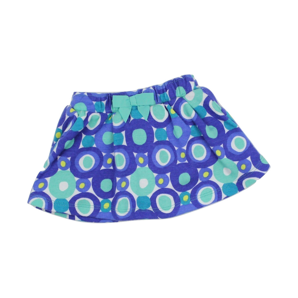 Gymboree Girls Turquoise & Blue Dot Design Skirt, Size 6-12 Months - May Bug Treasures