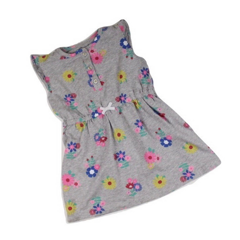 Carter's Grey Floral Dress, Size 24 Months - May Bug Treasures
