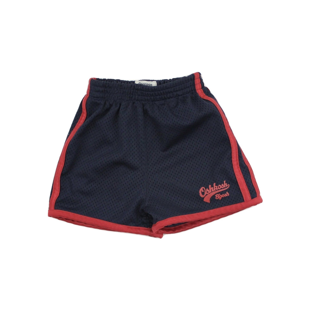 Toddler Boys Navy Shorts with Red Trim by Osh Kosh, Size 12 Months Available Online at Gently Used Kids Clothes Resale May Bug Treasures