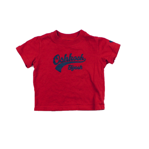 Osh Kosh Red T-Shirt, Size 3 Months - May Bug Treasures