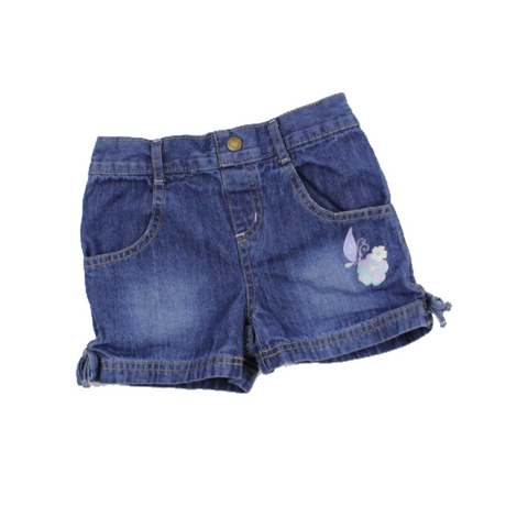 Disney Girls Denim Shorts with Flower, Size 6X - May Bug Treasures