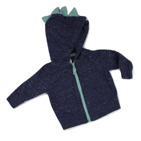 Blue Heather Hoodie, Size 3 months - May Bug Treasures