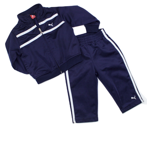 Puma Toddler Navy Track Suit, Size 12 Months Available Online at Gently Used Kids Clothes Resale May Bug Treasures