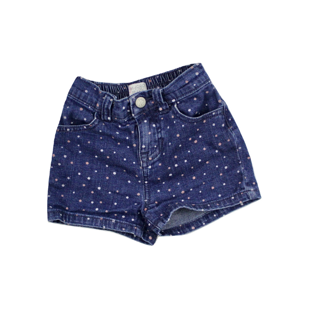 Children's Place Girls Denim Polka Dot Shorts, Size 2T - May Bug Treasures