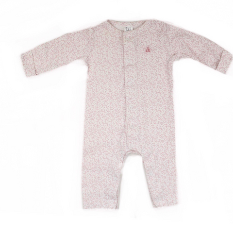 Baby a Gap Pink Floral Footless Sleeper/Romper, Size 3Months - May Bug Treasures
