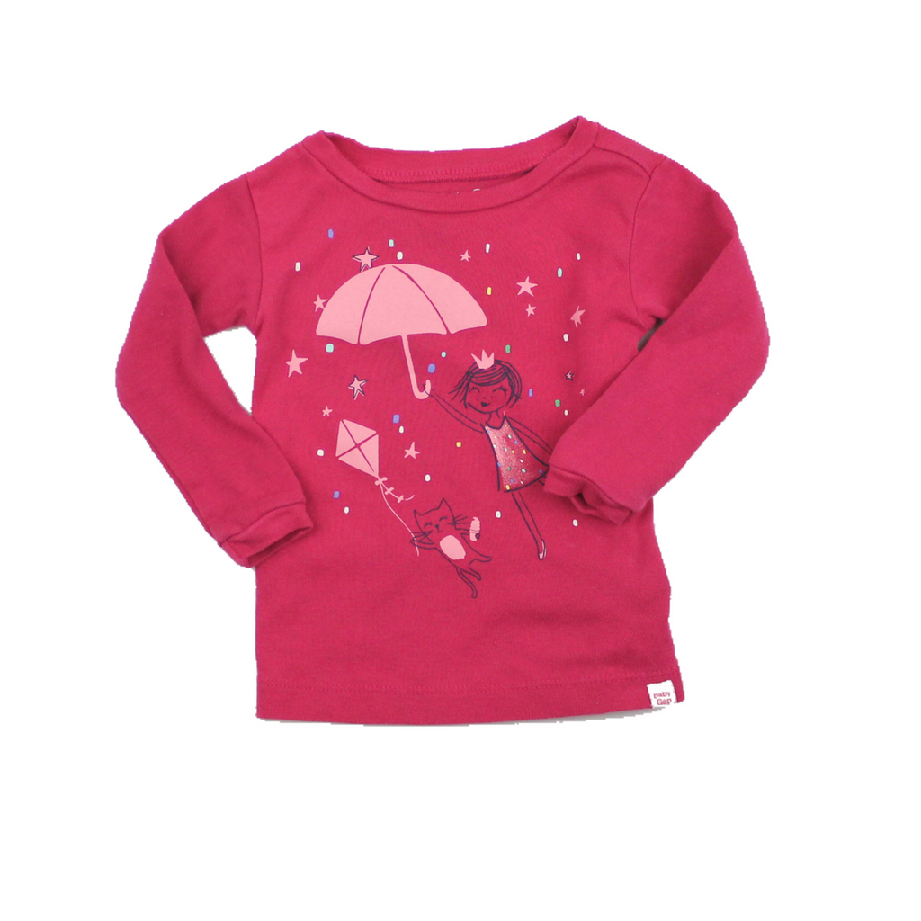 Baby Gap Pink Umbrella Long Sleeve Top, Size 12-18 Months - May Bug Treasures