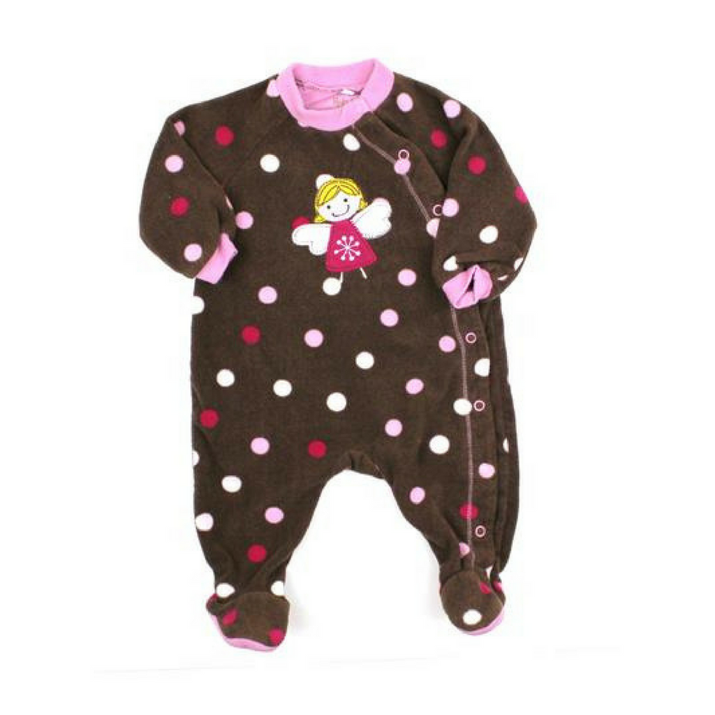 Baby Girls Fleece Sleeper, Size 3 Months - May Bug Treasures