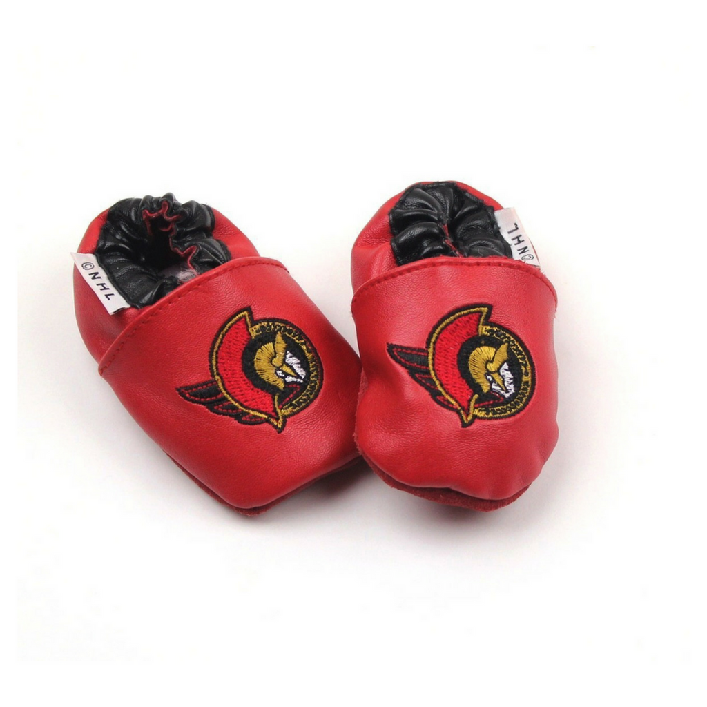 Ottawa Senators Infant Crib Shoes in Size 0-6 Months Available Online at Gently Used Baby Clothes Resale May Bug Treasures