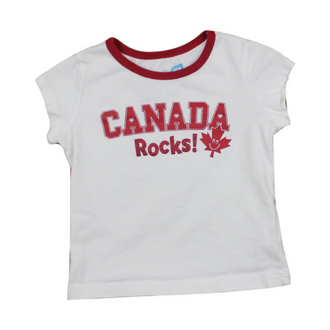 Toddler Girls Canada Rocks T-Shirt, Size 18 Months - May Bug Treasures