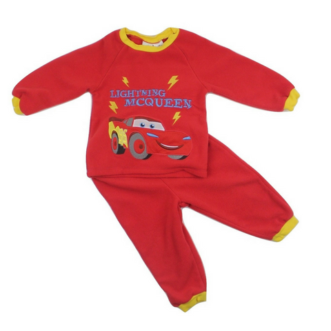 Lightening McQueen Red 2-Piece Fleece Pyjamas, Size 12 Months - May Bug Treasures