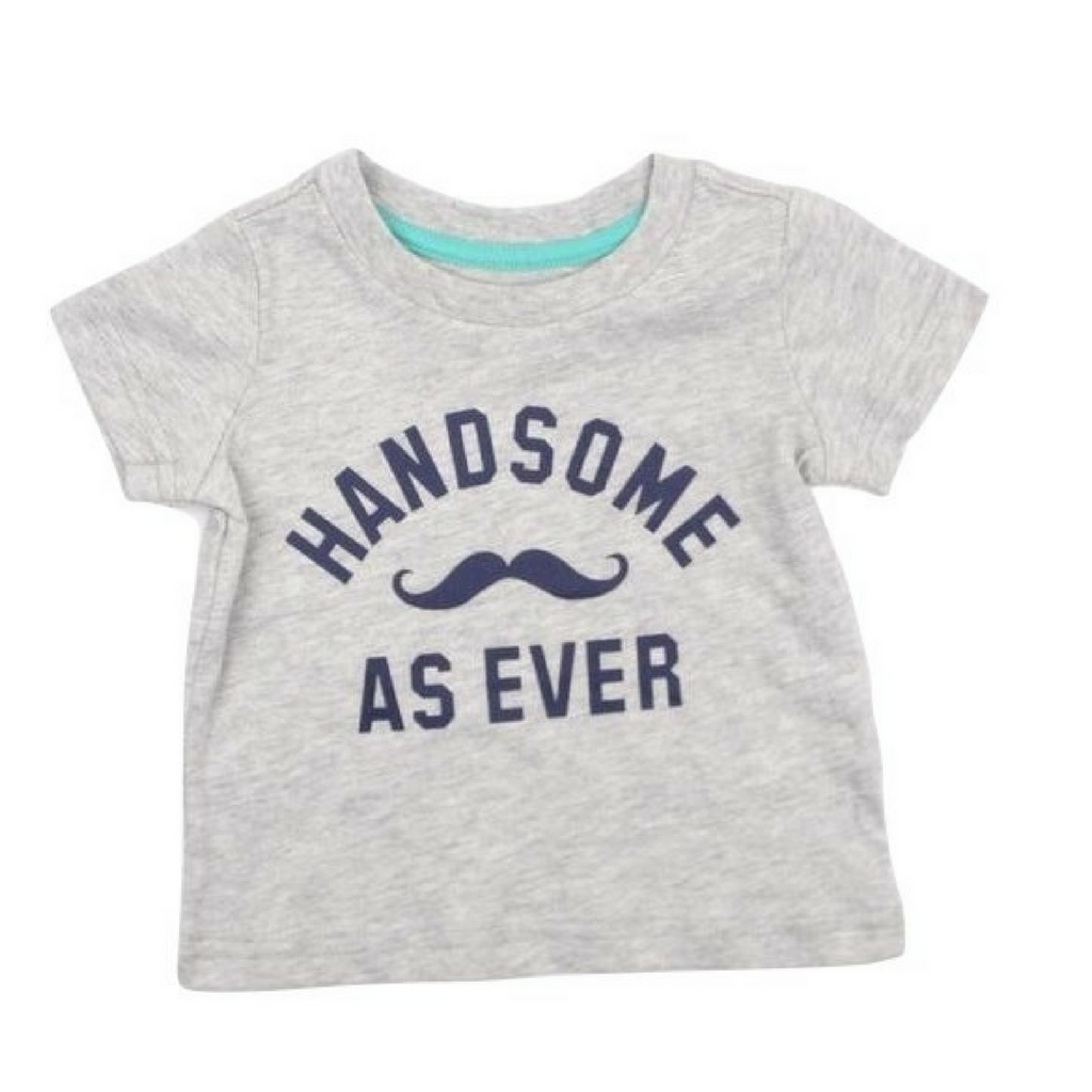 "Infant Boys 'Handsome As Ever"" T-Shirt in Size 3 Months - May Bug Treasures"