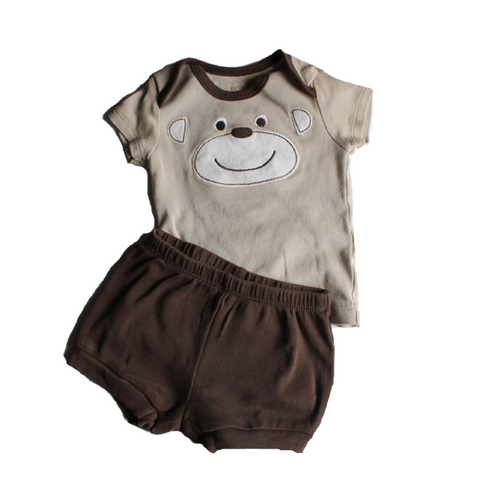 Carters Infant Brown Shorts Set, Size 3 Months - May Bug Treasures