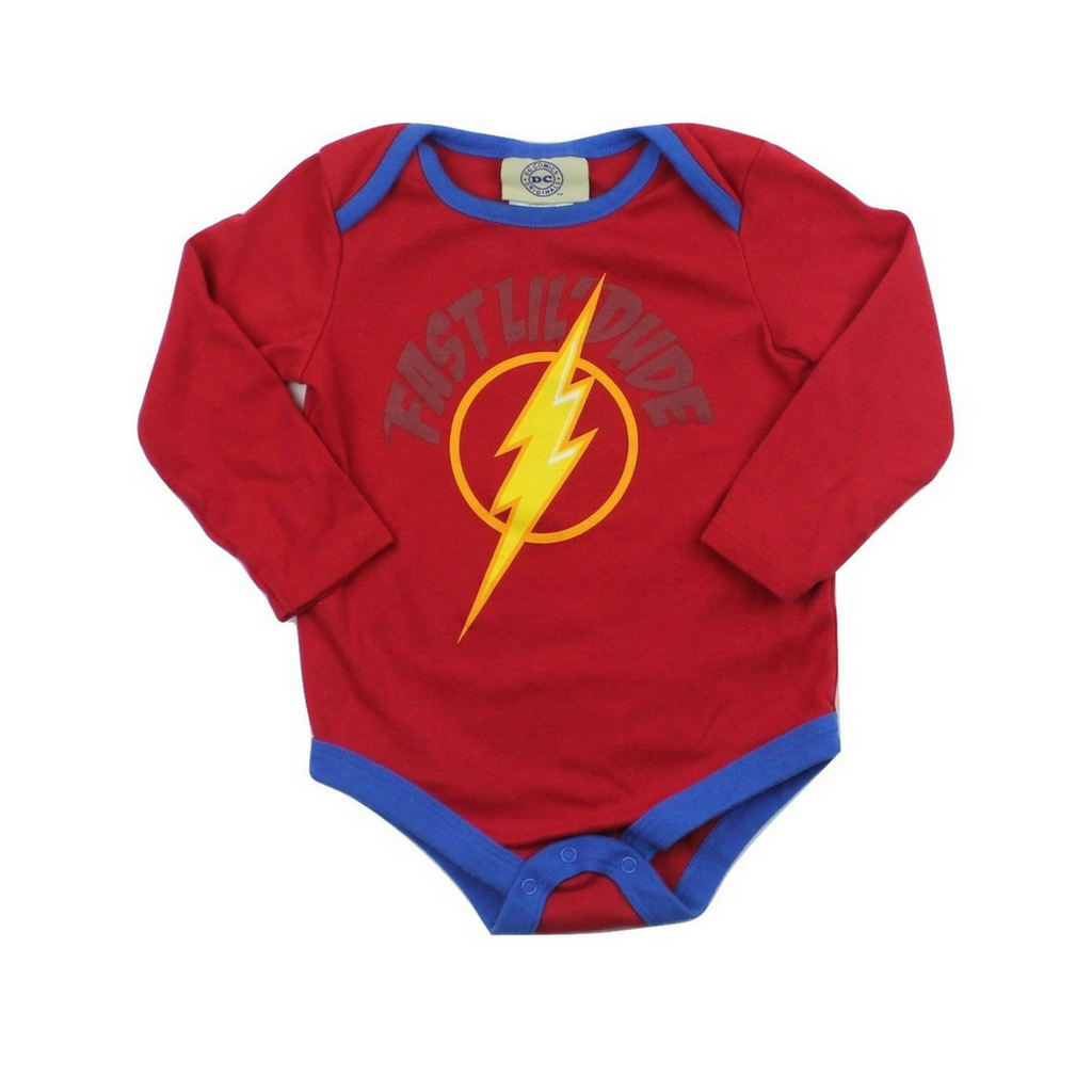 DC Comics Toddler Flash Bodysuit, Size 18-24 Months - May Bug Treasures