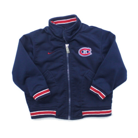 Nike Toddler Montreal Canadiens Navy Zip Up Jacket, Size 24 Months Available Online at Gently Used Kids Clothes Resale May Bug Treasures
