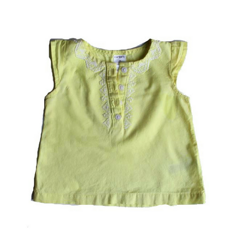 Carters Girls Yellow Blouse, Size 9 Months - May Bug Treasures