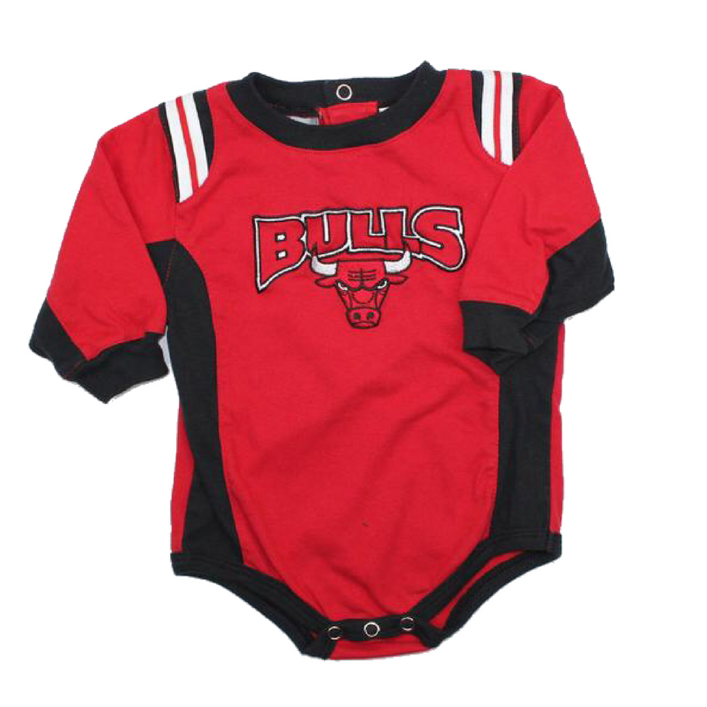 Chicago Bulls Long Sleeve One-Piece Bodysuit Size 6-9 Months - May Bug Treasures