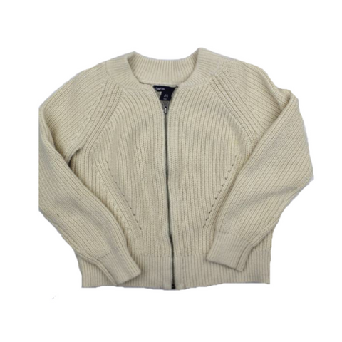 Gap Girls Zipper Cardigan in Cream, Size 6-7 - May Bug Treasures