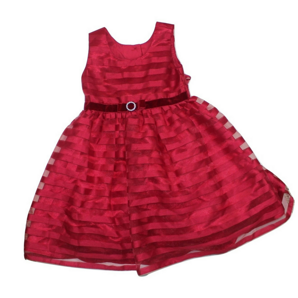 Girls Red Party Dress, Size 4 - May Bug Treasures