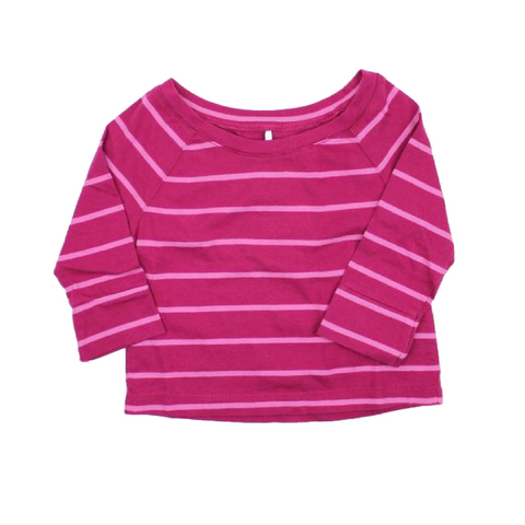 Brand New Cherokee Girls Long Sleeve Pink Stripe  Shirt, Size 12 Months - May Bug Treasures