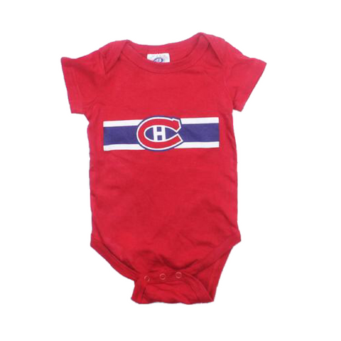 Montreal Canadiens Infant One-Piece Bodysuit, Size 6 Months - May Bug Treasures