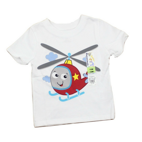 Brand New Helicopter T-Shirt, Size 12 Months - May Bug Treasures