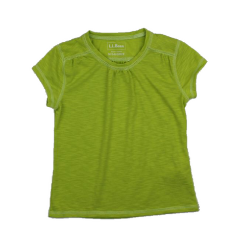 LL Bean, Girls Green T-shirt, Size 5-6 - May Bug Treasures