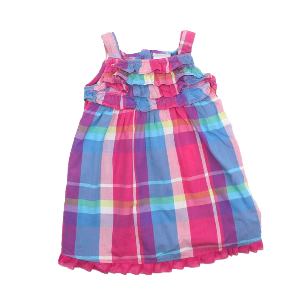 Girls Summer Plaid Dress in Size 2T - May Bug Treasures