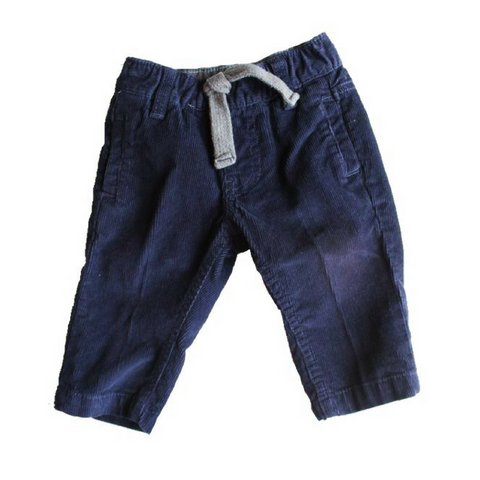 Carters Navy Corduroy Pants, Size 3 Months - May Bug Treasures