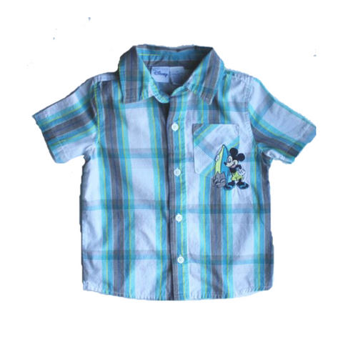 Disney Kids Short Sleeve Button Down, Shirt Size 3T - May Bug Treasures