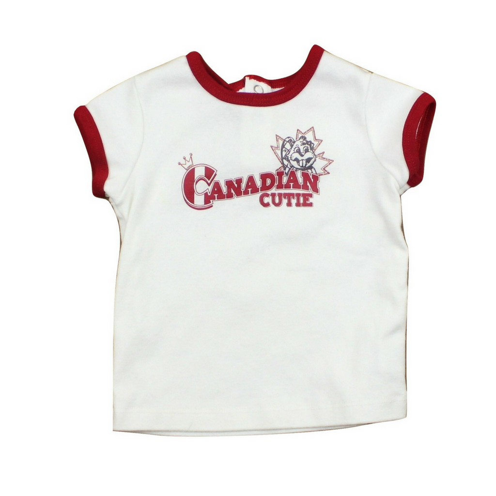 Toddler Girls Canadian Cutie T-Shirt, Size 12 Months - May Bug Treasures