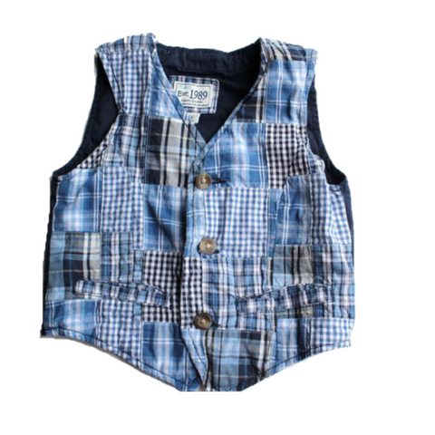 Children's Place Patchwork Vest, Size 4T - May Bug Treasures