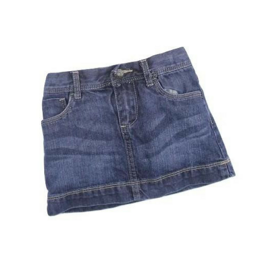 Girls Denim Skirt, Size 3 - May Bug Treasures