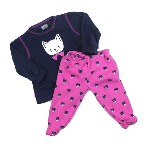 Infant Girls 2-Piece Cat Pajamas in Size 9 Months - May Bug Treasures