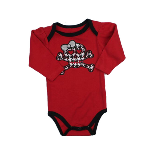 Brand New Red Long Sleeve Girls One-Piece Bodysuit in Size 0-6 Months - May Bug Treasures