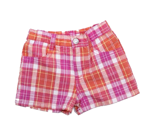 Disney Princess Girls Pink Plaid Shorts Size 4 - May Bug Treasures