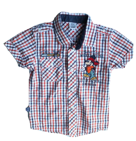 Disney Kids Short Sleeve Plaid Shirt, Size 3 - May Bug Treasures