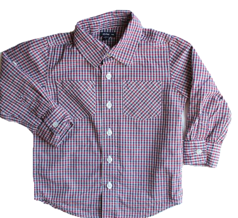Baby Gap Plaid Button Down Shirt, Size 3T - May Bug Treasures